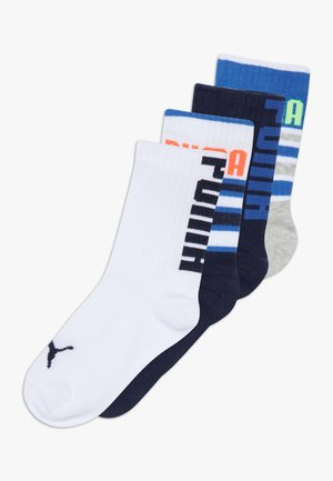 BOYS STRIPE 4 PACK - Ponožky - blue/grey