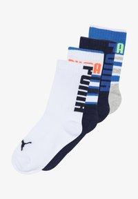 Puma - BOYS STRIPE 4 PACK - Ponožky - blue/grey - 4
