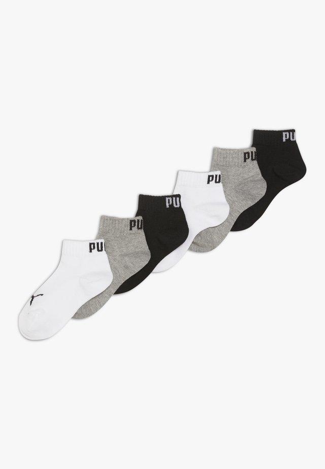 QUARTER 6 PACK - Socks - grey/white/black
