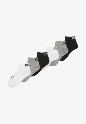 QUARTER 6 PACK - Calcetines - grey/white/black