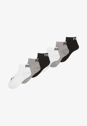 QUARTER 6 PACK - Chaussettes - grey/white/black