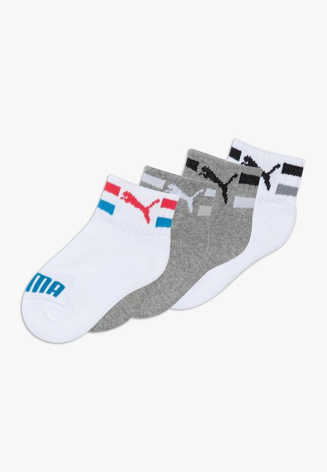KIDS CLYDE QUARTERS 4 PACK - Socks - white/grey