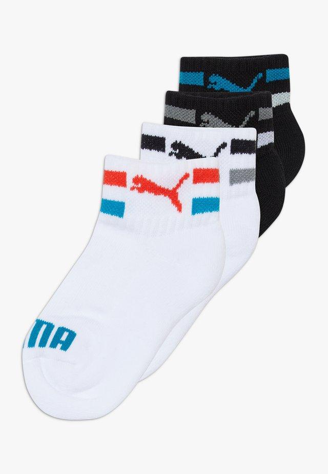KIDS CLYDE QUARTERS 4 PACK - Socks - white/black