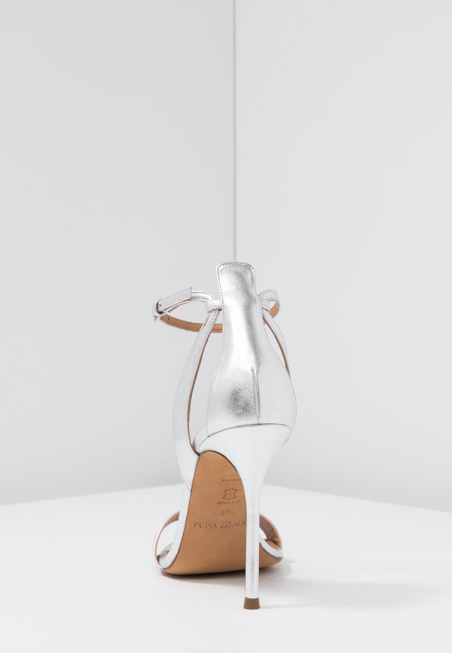 Pura Lopez Sandaler Med Høye Hæler - Silver