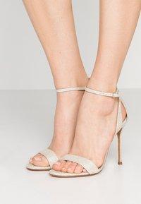 Pura Lopez - High heeled sandals - glitter platin - 0