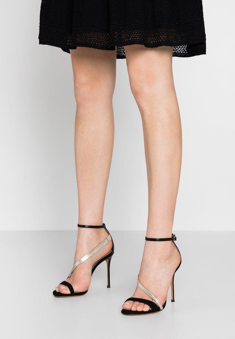 Pura Lopez - High heeled sandals - black/platin