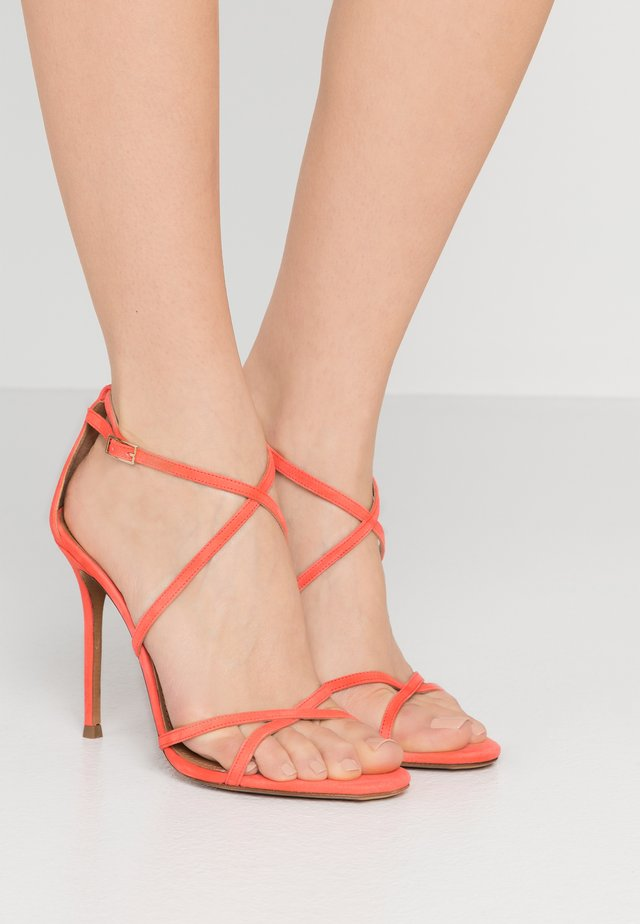 High heeled sandals - poppy