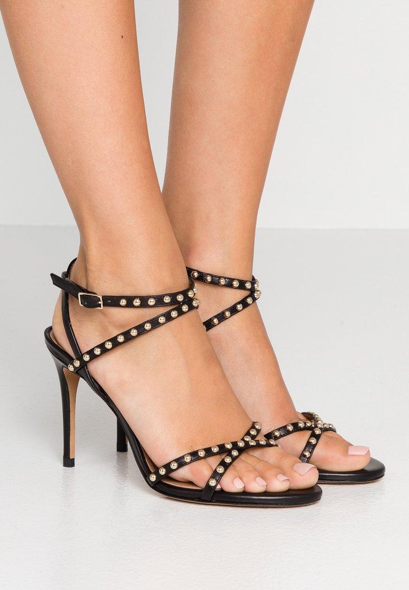 Pura Lopez - WITH STUDS - High Heel Sandalette - black
