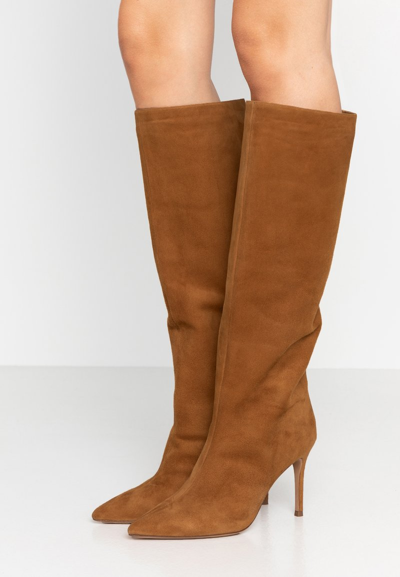 Pura Lopez - High heeled boots - chesnut