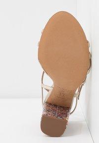 Pura Lopez - Sandaler med høye hæler - metal platin/fun - 6