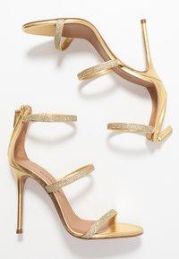 Pura Lopez - Sandalias de tacón - glitter gold/metal gold - 3
