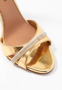 Pura Lopez - Sandalias de tacón - mirror gold - 2