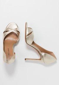 Pura Lopez - Peeptoe heels - platin - 3