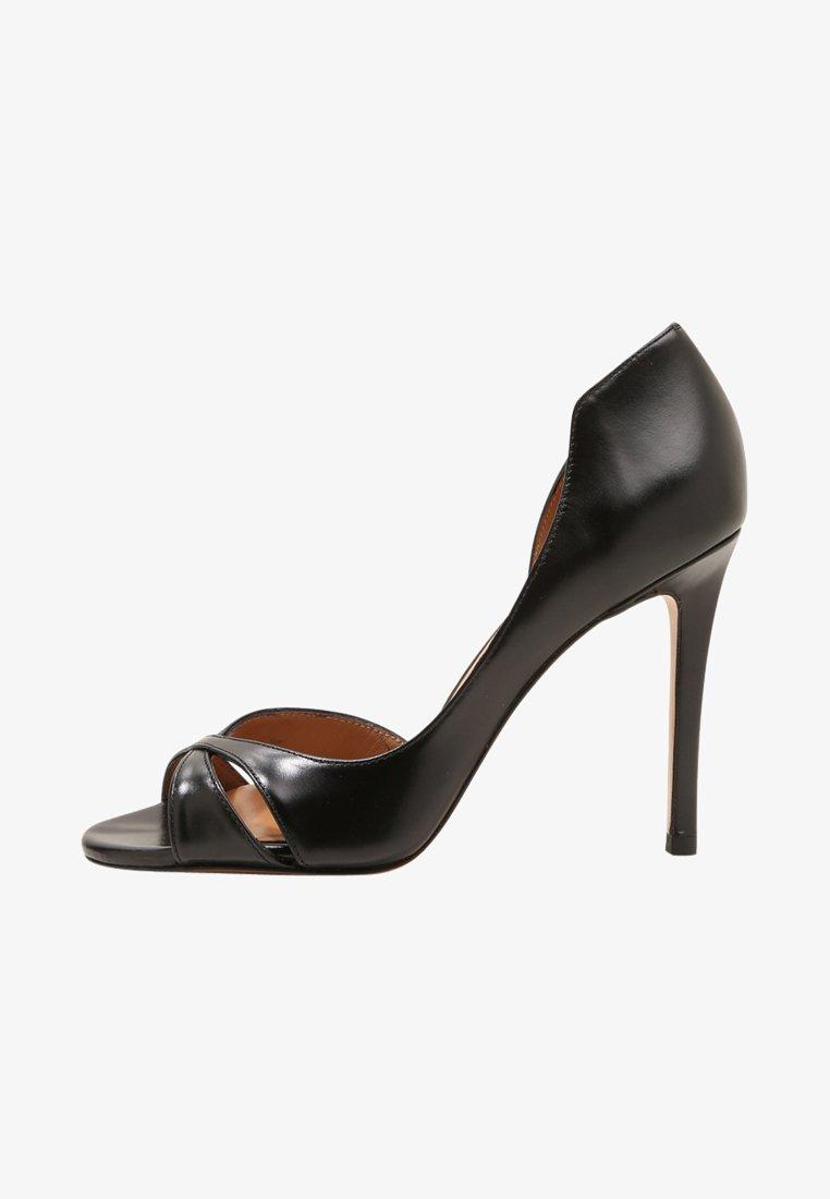 Pura Lopez - Højhælede peep-toes - black