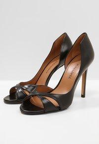 Pura Lopez - Højhælede peep-toes - black - 2