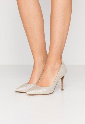 High Heel Pumps - glitter platin