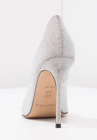 Pura Lopez - Korolliset avokkaat - glitter argento - 4