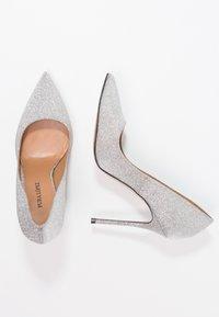 Pura Lopez - Korolliset avokkaat - glitter argento - 2
