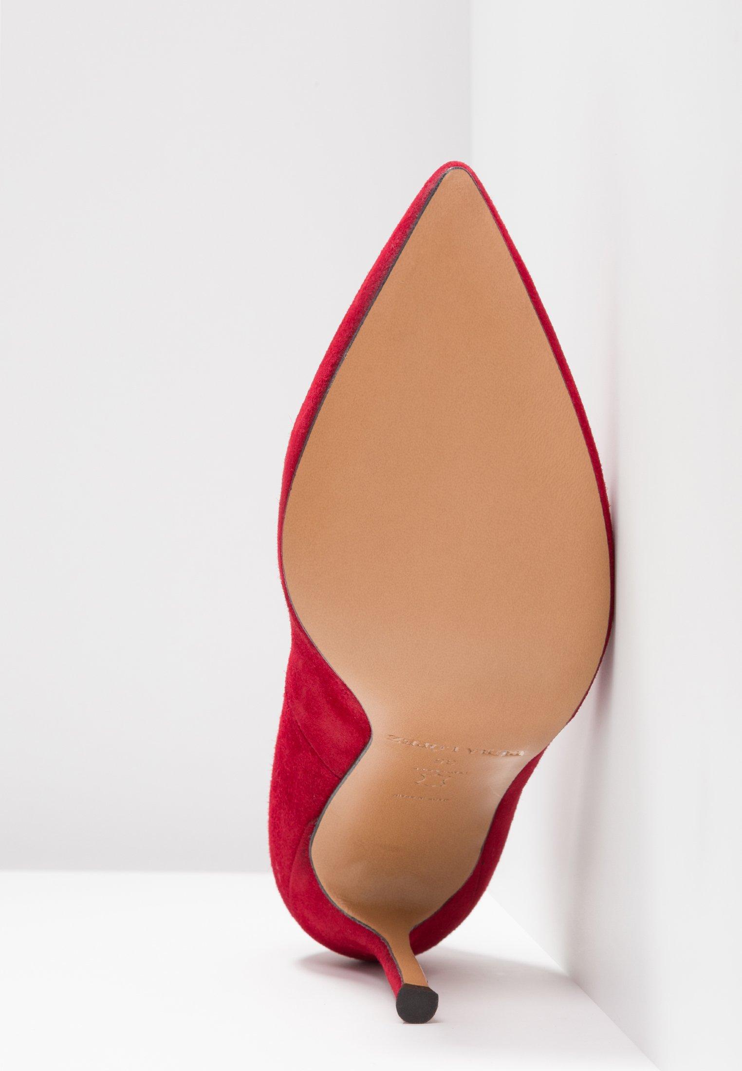 Pura Lopez Klassiska pumps - red