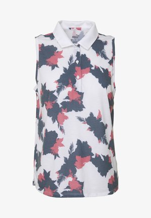 FLORAL SLEEVELESS POLO - Sports shirt - dark denim
