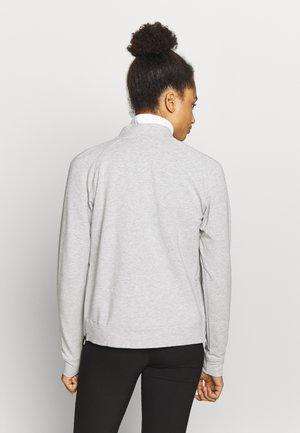 BOMBER JACKET - veste en sweat zippée - light gray heather