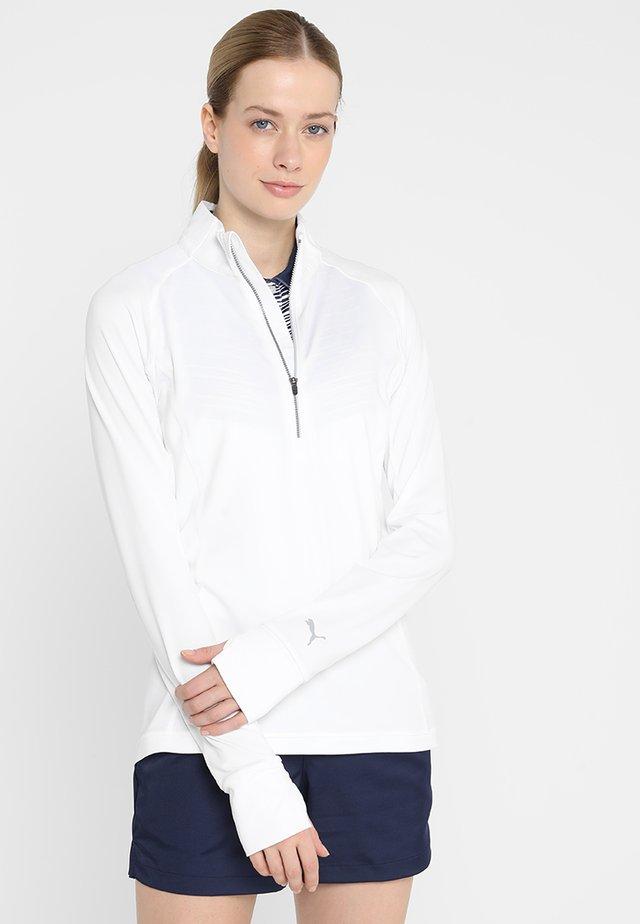 ROTATION ZIP - Tekninen urheilupaita - bright white
