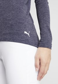 Puma Golf - 1/4 ZIP - Koszulka sportowa - peacoat heather - 5
