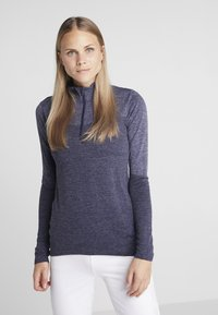 Puma Golf - 1/4 ZIP - Koszulka sportowa - peacoat heather - 0