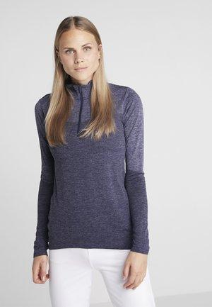 1/4 ZIP - Sports shirt - peacoat heather