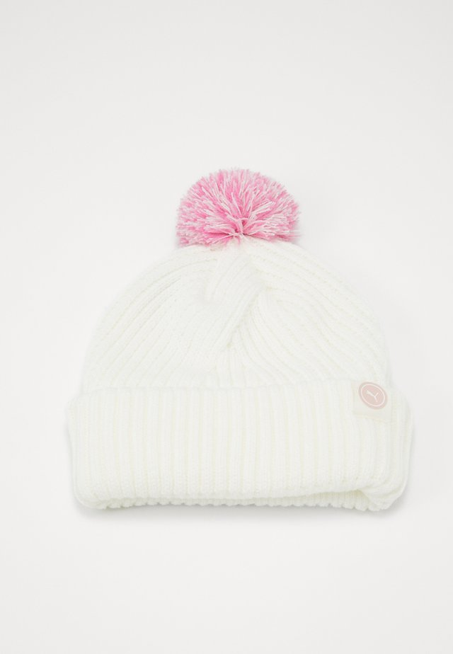 CIRCLE CAT REMOVABLE POM BEANIE - Beanie - bright white