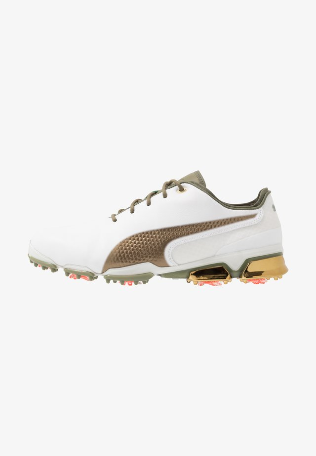 IGNITE PROADAPT G LUX - Golf shoes - white/gold