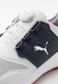 Puma Golf - IGNITE DISC - Golfové boty - white/silver/peacoat - 6