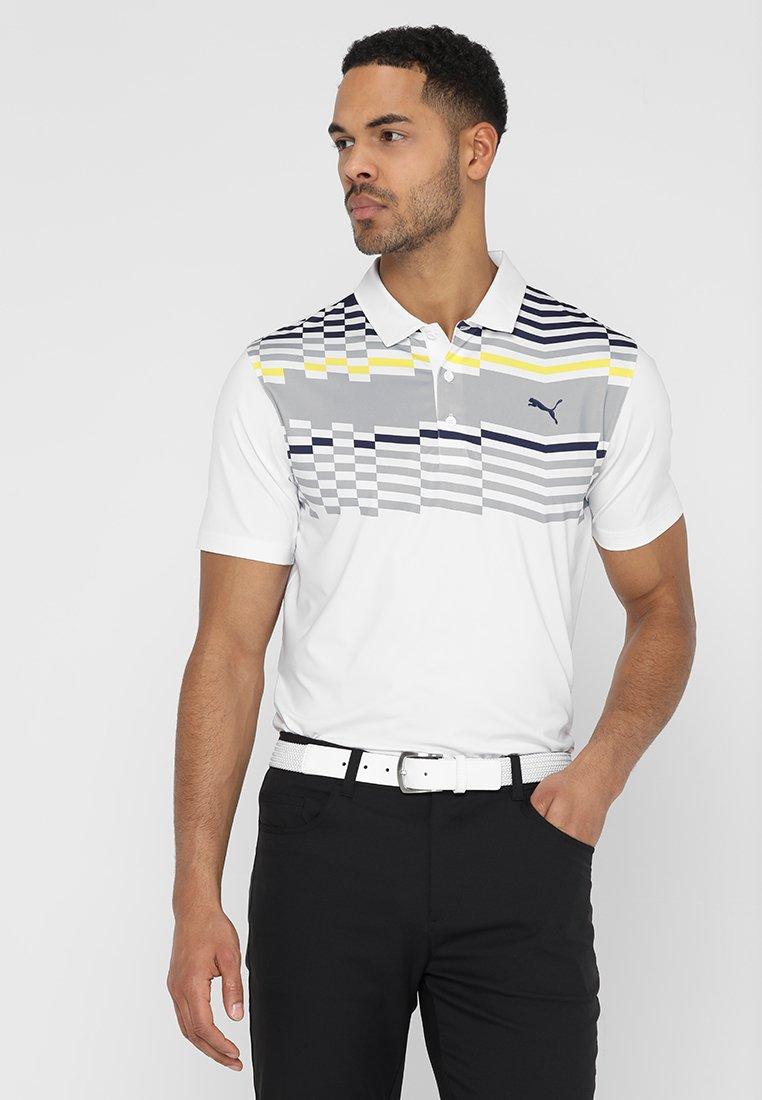Puma Golf - ROAD MAP - Funkční triko - bright white/blazing yellow