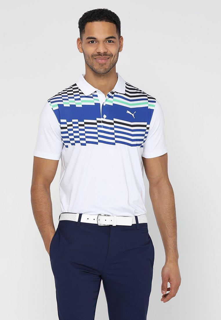 Puma Golf - ROAD MAP - Sports shirt - bright white/irish green
