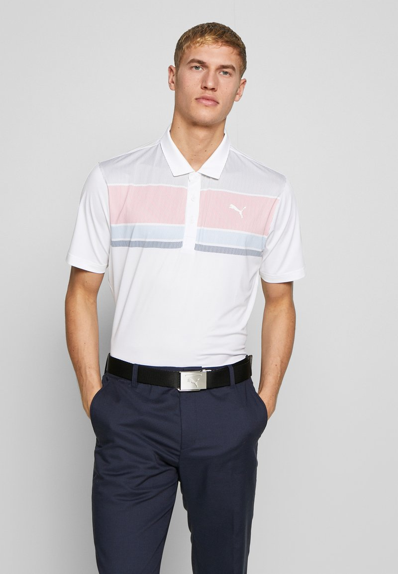 Puma Golf - ROAD MAP - Polo - rapture rose/blue bell
