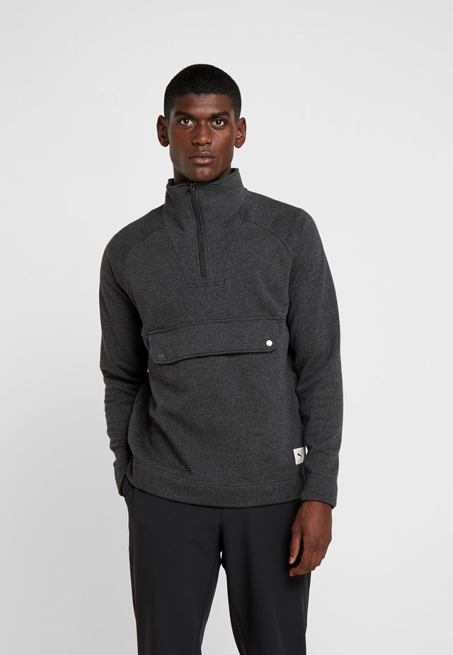 FUSION ZIP - Sweatshirt - puma black heather
