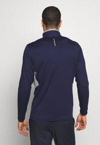 Puma Golf - ROTATION ZIP - Koszulka sportowa - peacoat - 2