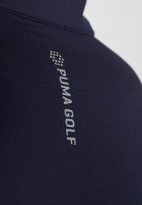 Puma Golf - ROTATION ZIP - Koszulka sportowa - peacoat - 5
