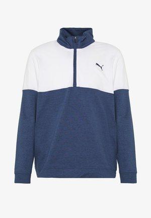 WARM UP 1/4 ZIP - Sweatshirts - peacoat/bright white