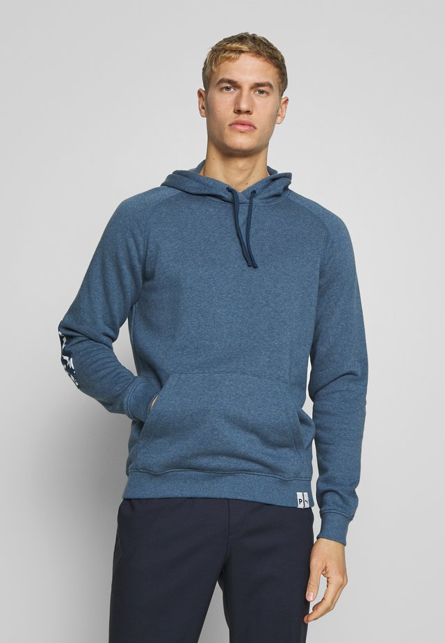 PONTO HOODIE - Mikina s kapucí - dark denim heather