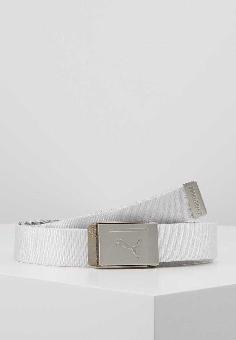 Puma Golf - REVERSIBLE WEB BELT - Pasek - bright white