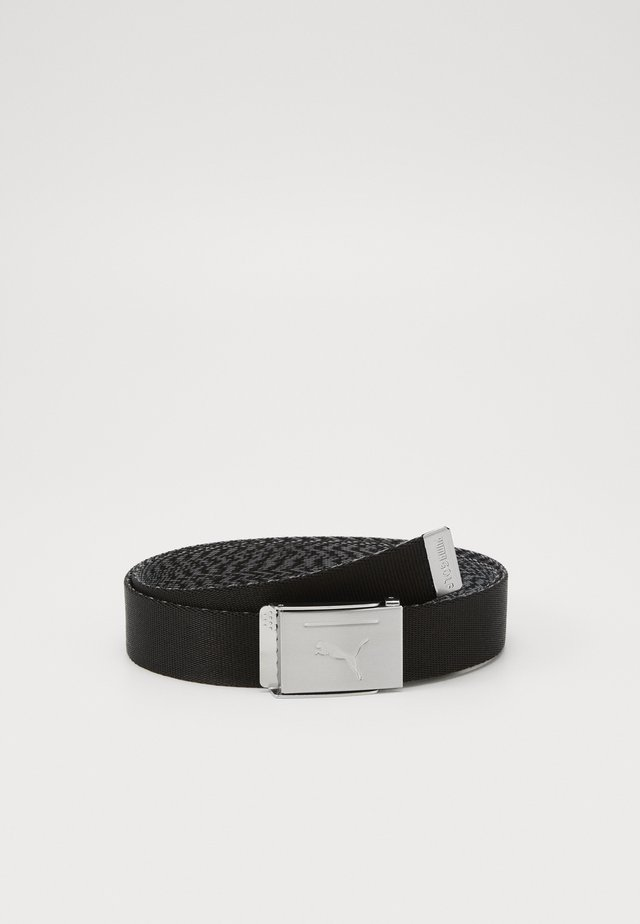 REVERSIBLE WEB BELT - Vyö - black