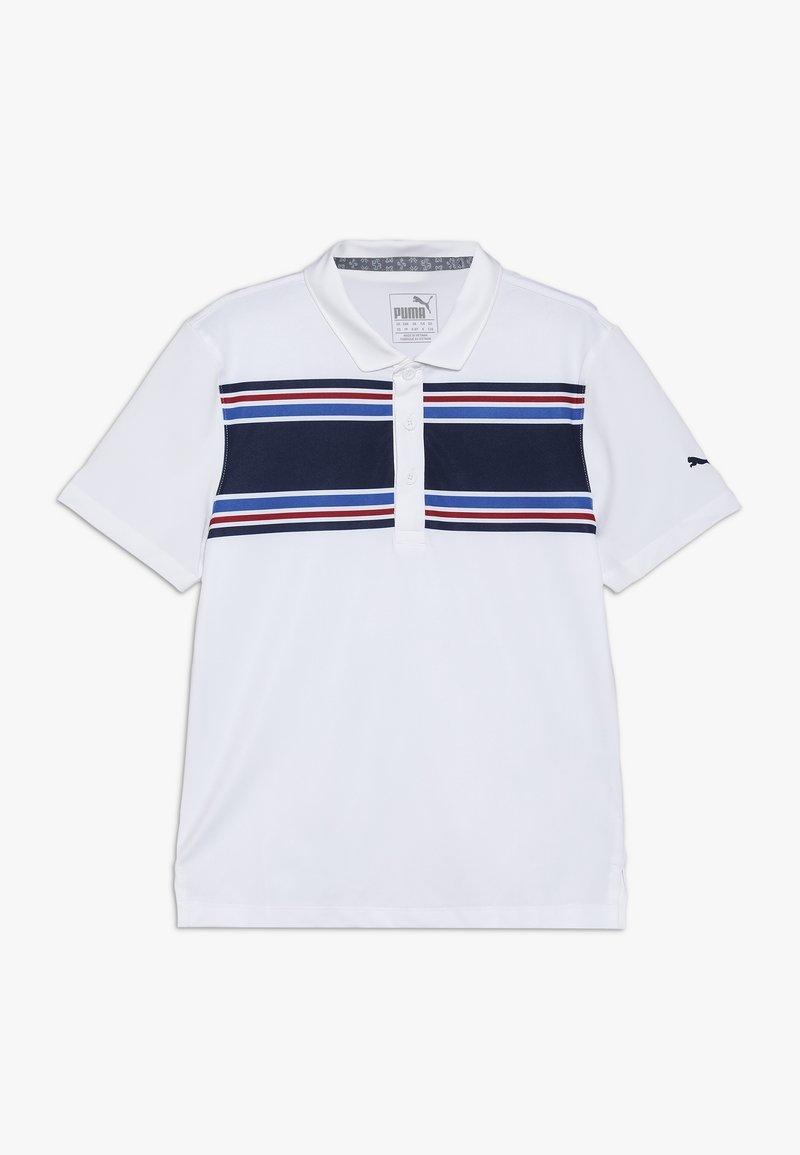 Puma Golf - BOYS MONTAUK  - Polo shirt - bright white/peacoat