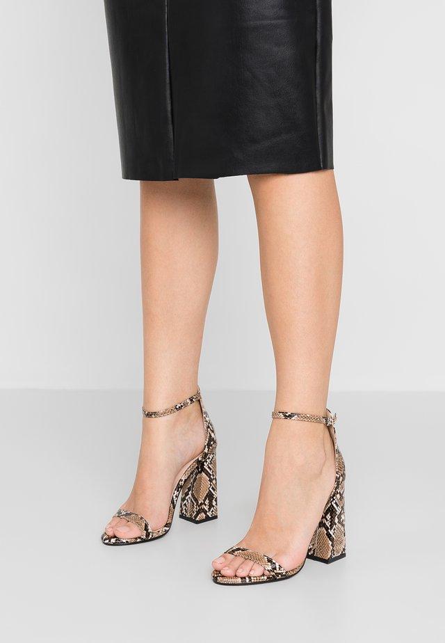 TESS - Sandály na vysokém podpatku - natural