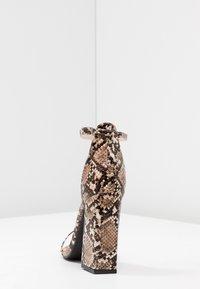 Public Desire - TESS - High heeled sandals - natural - 5