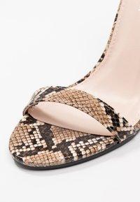 Public Desire - TESS - High heeled sandals - natural - 2