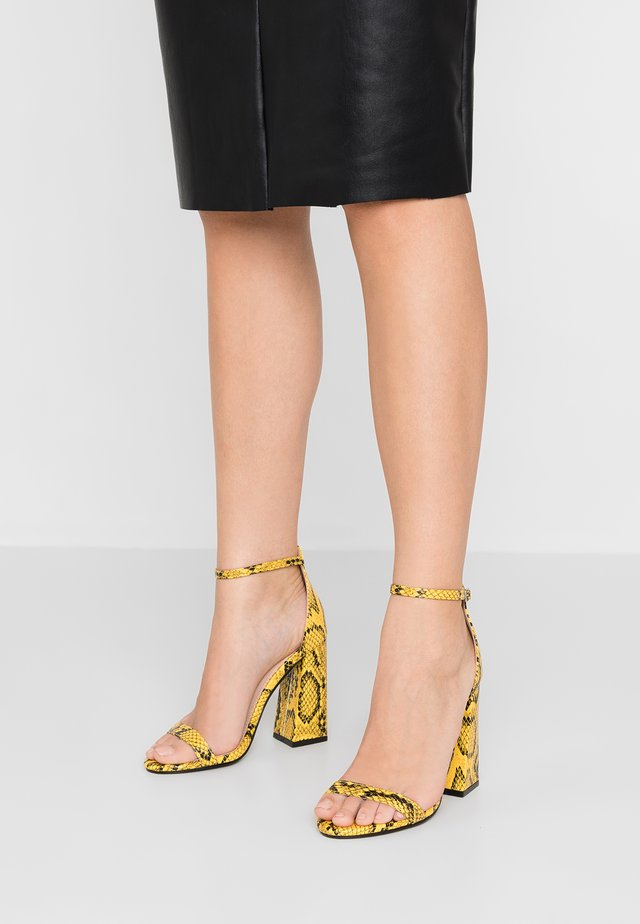 TESS - High heeled sandals - mustard