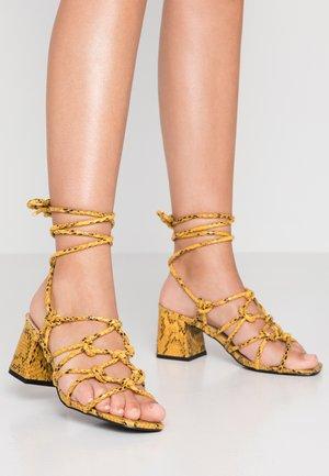 FREYA - Sandals - mustard