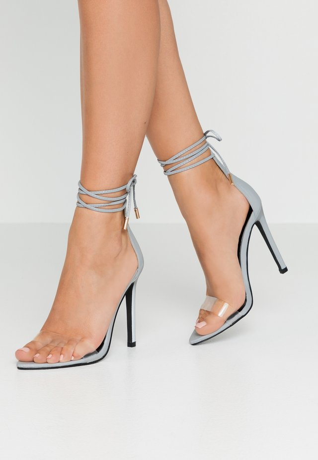 STEFANI   - High heeled sandals - reflective grey