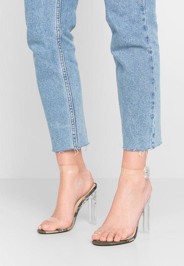 SLICE - High Heel Sandalette - green